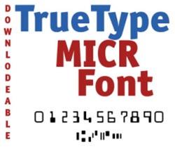 E13b Truetype Micr Font Downloadable